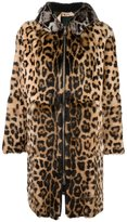 No.21 leopard print hooded coat