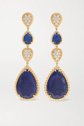 Boucheron Serpent Boheme 18-karat Gold, Lapis Lazuli And Diamond Earrings