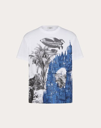 Valentino Dreamatic Print T-shirt Man White/multicolor Cotton 100% XS