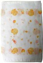 SHINNKU・BI-(ATOPI-NONNNONN) ATOPI NONON NYUYOKU GAAZE PIYOPIYO Pattern 2sheets gentle infant bath towel (japan import)