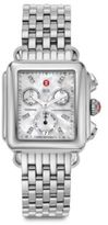 Michele Deco 18 Diamond, Mother-Of-Pearl & Stainless Steel Chronograph Bracelet Watch