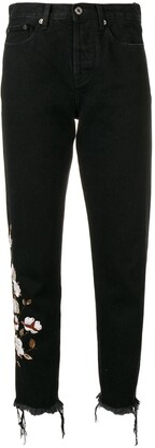 Off-White Floral Appliques Jeans