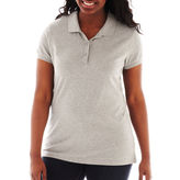 Arizona Short-Sleeve Polo Shirt - Juniors Plus