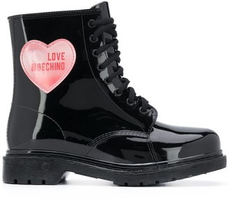 Love Moschino Heart Patch Ankle Boots