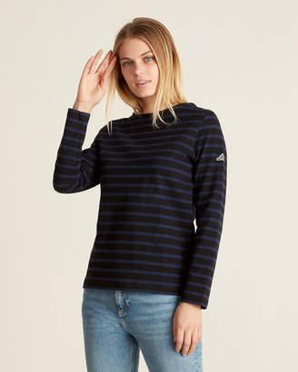 Le Mont St Michel Striped Logo Patch Sweater
