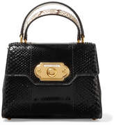 Dolce & Gabbana Welcome Small Python Tote - Black