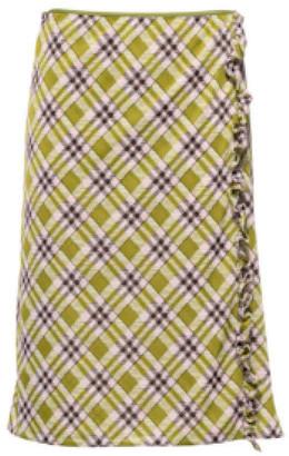 Miu Miu Ruffle-Trimmed Jersey Skirt