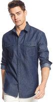 American Rag Men's Big & Tall Deija Solid Denim Shirt, Only at Macy's