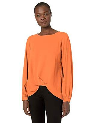 Karen Kane Women's Long Sleeve Twist Hem Top