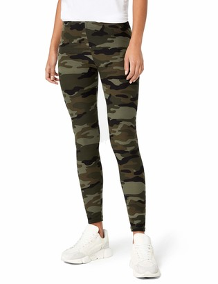 Urban Classics Women's Camouflage Leggings Comfortable Sport Pants Stretchy Workout Trousers with Military Print Regular Skinny Fit