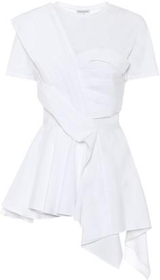 Alexander McQueen Asymmetric cotton top