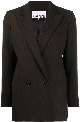 Ganni checked oversized blazer