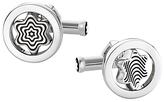 Montblanc Round Swivel Star Emblem Cufflinks, Silver