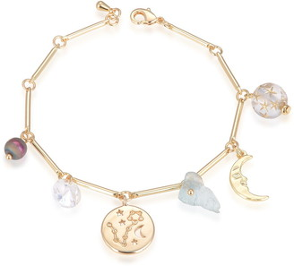 Eye Candy Los Angeles Pisces Natural Stone Charm Bracelet