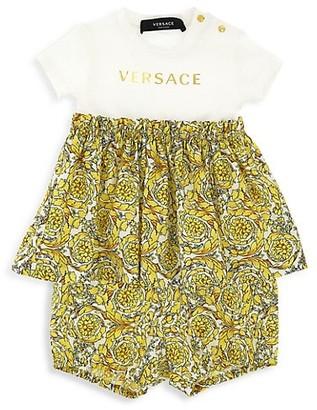 Versace Baby Girl's 2-Piece Baracco Dress & Shorts Set