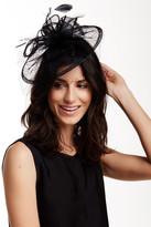 San Diego Hat Company Black Sinemay Fascinator