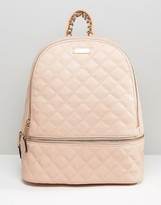 Aldo Quilted Backpack in Blush