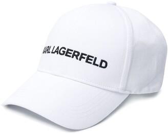 Karl Lagerfeld Paris Logo Embroidered Cap
