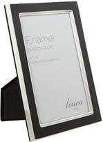 Linea Black enamel photo frame, 4 x 6