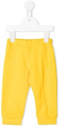Balmain Kids Embossed Logo Track Pants
