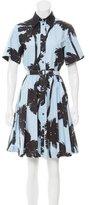 Moschino Cheap & Chic Moschino Cheap and Chic Palm Tree Print Mini Dress