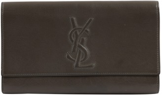 Saint Laurent Anthracite Leather Clutch bags