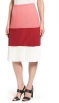 BOSS Women's Visena Colorblock Pleat Skirt