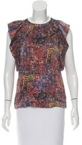 3.1 Phillip Lim Abstract Print Silk Top