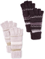 INC International Concepts Mix Stitch Fingerless Gloves, Only at Macy's