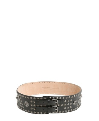 Alexander McQueen Double Buckle Studded Belt