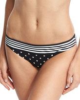 Stella McCartney Striped & Polka Dot Swim Bottom, Black/White