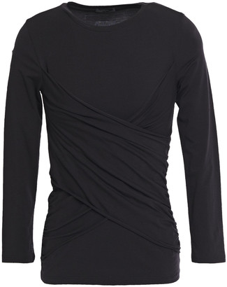 ATM Anthony Thomas Melillo Ruched Stretch Pima Cotton-jersey Top