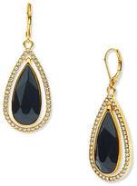 Anne Klein Orbital Jet Epoxy Stone Drop Earrings