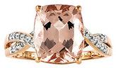 Rosegold QVC 3.00 ct tw Cushion-Cut Morganite Ring, 14K