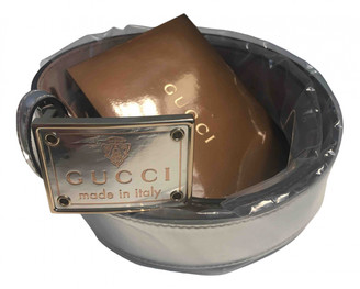 Gucci Silver Leather Belts