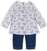 Absorba Infant Girls' Floral Corduroy Top and Chambray Pants Set - Sizes 0-9 Months