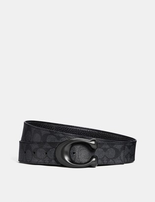Coach Signature Buckle Cut-To-Size Reversible Belt, 38Mm