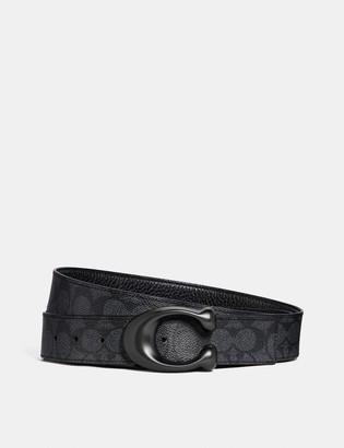 Coach Signature Buckle Cut-To-Size Reversible Belt, 38Mm