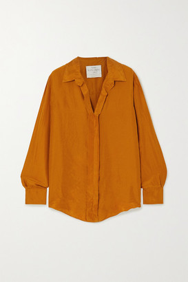 Forte Forte Crinkled Silk-habotai Shirt