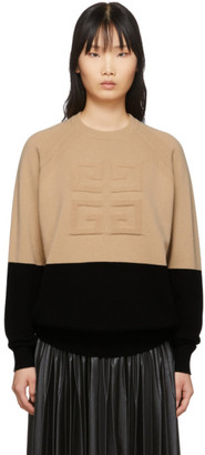 Givenchy Beige and Black 4G Sweater