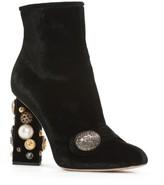 Dolce & Gabbana Women's Pearl Statement Heel Bootie