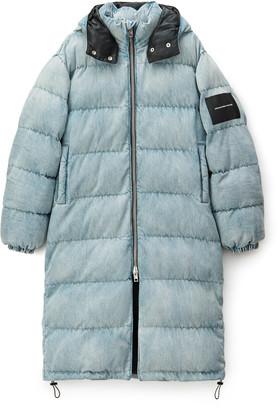 Denim Long Puffer Jacket