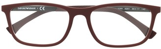 Emporio Armani Matte-Finish Rectangle-Frame Glasses