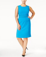 Kasper Plus Size Banded-Waist Dress