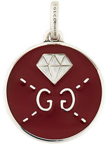 Gucci GucciGhost diamond engraved charm pendant