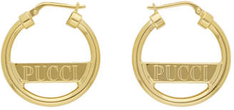 Emilio Pucci Gold Mini Pucci Hoops
