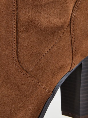 Very Straight Leg Loose Calf Boots - Taupe