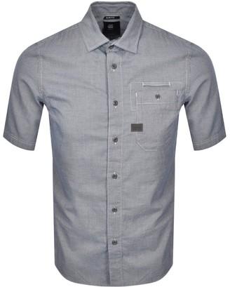 G Star Raw Bristum Short Sleeved Shirt Navy