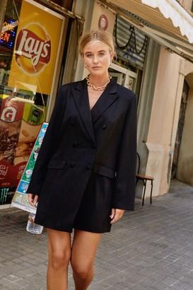 Nasty Gal Womens Powers That Be Oversized Blazer Dress - black - 4