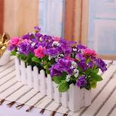 XHOPOS HOME-Fake flowers XHOPOS HOME Artificial Plants Artificial Flowers Fence Flower Gardens And Outdoor Purple Floral Arrangements Home Room Office Decorative Accessories
